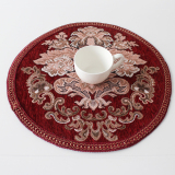 Cheaper Foreign Trade European High Grade Garden Style Cloth Round Mat Western Pad Coaster Table Mat Insulation Pad