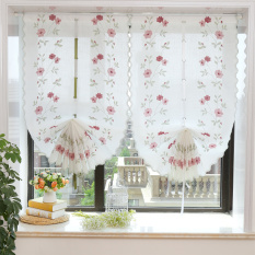 Discount Korean Style Foreign Trade Pastoral Embroidered Fan Shaped Curtain Oem On China