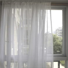 Who Sells Semi Sunlight Blocking Gauze Curtain White The Cheapest