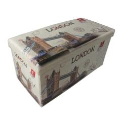 Who Sells The Cheapest Don T Miss Out On This Great Promotion Buy 1 Get 1 Free Forest Collapsible Storage Ottoman Bench Printed Series London Online