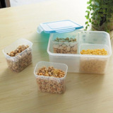 Get The Best Price For Four Grid Sealed Crisper Refrigerator Plastic Food Storage Boxes Preservation Box Container Kitchen Supplies Blue 22 5X16X10 2Cm Intl