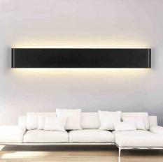 Four Season Big Sale Simple 6W Aluminum LED Wall Lamp Bedside Hallway Bathroom Mirror Light (Black shell&Bright white light) - intl