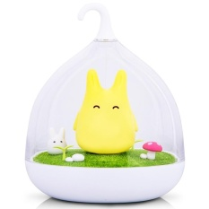 Latest Four Season Big Sale Usb Rechargeable Touch Sensor Led Night Light Portable Dimmable Totoro Night Lamp For Baby Kid Children Color Yellow Power 8 Watts Intl