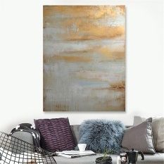 Framed Hand-painted Modern Abstract Art Canvas Print Oil Painting Wall Decor - intl