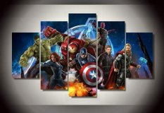 Framed Printed Avengers Animation 5 piece picture Painting wall art room decor print poster picture canvas (Unframed)(Export)
