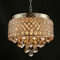 Low Cost France Gold Romantic High Grade Crystal Diamond Chandeliers Living Room Kitchen Pendant Lights Ceiling Lights Intl