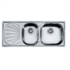 Compare Franke Gex 621D Lhd 2 Bowl 1 Drainer Stainless Steel Sink C W Waste