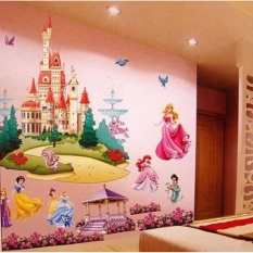 Sale Frd Girls 3D Princess Castle Wall Sticker Decals Mural For Princessroom Decoration Intl Oem On China