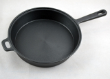 Cheaper Free Delivery Deepen Cast Iron Frying Pan Flat Pot Frying Pan Wok No Coating To Send Cotton To Cover Diameter 25