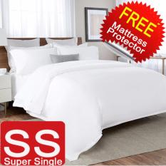Review Free Mattress Protector Nile Valley 1600 Thread Count 5 Star Hotel Egyptian Cotton Quilt Set Singapore