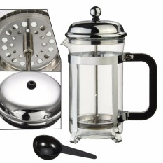 French Press Tea Coffee Maker Cafetiere Cup Frame Heat Resistant Glass Pot Steel Intl Cheap