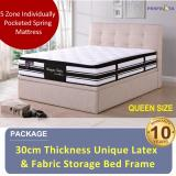 Price Full Set Storage Bed And 12 Inch Latex Top Plush Mattress Univonna Online