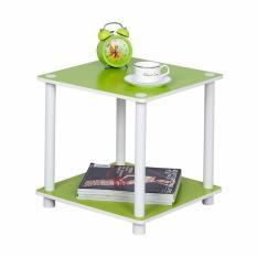 Top 10 Funika 11214 Gr Wh 2 Tier Mini Square Shelf Green