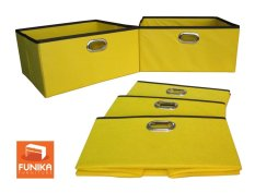 Funika 13162Yl Non Woven Storage Bin Organiser Yellow Set Of 5 Reviews