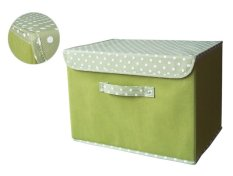 For Sale Funika 13203 Non Woven Storage Bin With Lid Cover Big Green Set Of 2