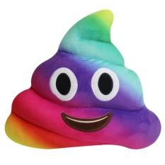 Funny Poop Pillow Smiley Emoticon Emoji Poop Shape Stuffed Plush Toy - intl