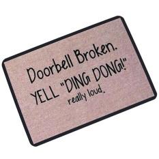Funny Welcome Doormat Indoor Outdoor Rubber Floor Mats Non Slip Rug Pad Cushion - intl