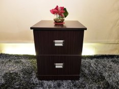 New Furniture Living Bedside Table Walnut
