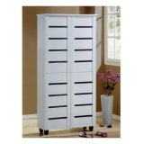Lowest Price Furniture Living Tall Shoe Cabinet White