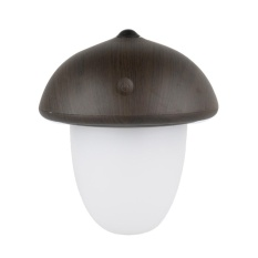 fuskm Creative Wood Grain Rechargeable LED Light with USB, Touch-style Mushroom Night Light 3 Selectable Modes Portable Desk Lamp - intl