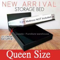 FW Queen Size Storage Bed (Black Colour)