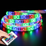 Price Comparisons Gaktai 2M Waterproof Dc 5V Led Smd 3528 Rgb Usb Cable Strip Flexible Tape Light 24Key Remote Control Intl