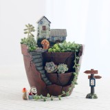 Garden Flower Herb Planter Succulent Pot Sky Garden Trough Box Plant Bed New Intl Oem Discount