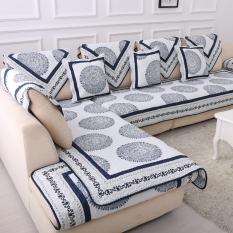 Park Four Seasons Sofa Cover Backrest Towel Sofa Slipcover Chinese-style Blue And White Porcelain Classical sofa dian bu Artfarm