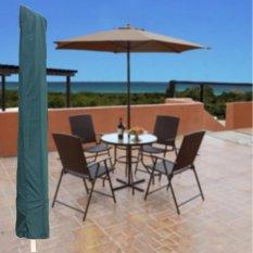 Garden Patio Parasol Umbrella Cover Bag Green Fit 7ft Umbrella +Draw String Neck - intl