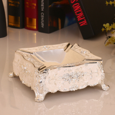 European Style Alloy Ash Tray Metal Square Large Size Ashtray Creative Fashion Villa KTV Decorations And Ornaments