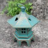 Gejiaruier Retro Garden Hexagonal Lantern Wrought Iron Candle Holder Shopping