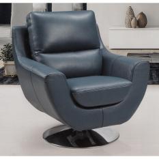 Gemini SFLP807 Half Leather Swivel Sofa Blue