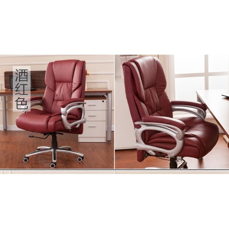 Genuine Leather Boss Chair 504 (Red)(Free Installation) Singapore