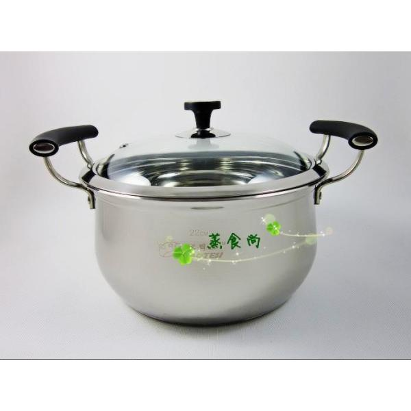 Product LAOTESI Kitchenware Stainless Steel Double Bottom Angle American up Style Double-handle Pot Stew Pot Electromagnetic Furnace to Adapt Singapore