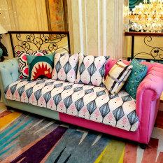 Modern Fabric Cotton Sofa Cushion Four Seasons Slip Cushion Compare Prices