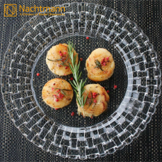 Germany Origional Product Import nachtmann Crystal Fruit Plate Seats with  Weaving Western Food Main Meal Dish Dessert Plate Product