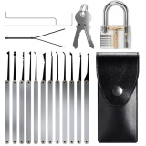 Sale Getek 15Pcs Unlocking Lock Pick Set Key Extractor Tool Transparent Practice Padlocks Intl Getek Branded