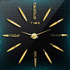 Getek Diy Large 3D Mirror Surface Wall Clock Sticker Gold Reviews
