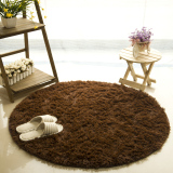 Getek Round Soft Shaggy Round Rug Carpet Bedroom Floor Mat 80Cm Coffee Getek Cheap On China