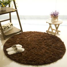 Review Getek Round Soft Shaggy Round Rug Carpet Bedroom Floor Mat 80Cm Coffee China