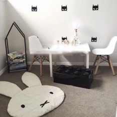 Cheap Gethome Cute Miffy Rabbit Shape Playmat Blanket Baby Play Rug Game Mat Children Room Decoration Creeping Mat Intl Online