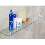 How To Get Glass Bathroom Bath Shower Shelf Caddy Rack Holder Tiers Rectangle Wall Mounted Intl
