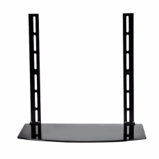 Glass Shelf TV Wall Mount Bracket Component Above Below Under Cable Box DVR DVD - intl