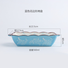 Glaze Color Ceramic Baking Dish Cheese Baked Rice Breakfast Plates For Sale