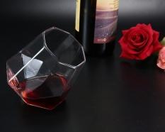goges Whiskey Glass,Diamond Shaped Rotation Whiskey Clear Glass Drinking Mug,7.5x6cm - intl