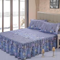 Gogolife Soft Cotton Bed Skirt Bedsheets Bed Cover Floral Printing 29 Rosemary Lowest Price