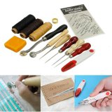 Who Sells Good Service 13Pcs Leather Craft Hand Stitching Sewing Tool Thread Waxed Thimble Kit Intl