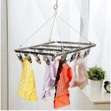 Good Service 26 Peg Aluminium Metal Sock Bra Underwear Clothes Outdoor Dryer Laundry Hanger Intl Best Price