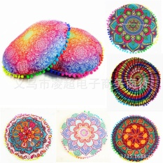 Graduation Flower Europe and the United States digital new pillowcase foreign trade bursts pillow sets of flowers round cushion sets of furniture backrest sets