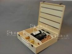 Grape Wine four bottled wooden wine wooden box